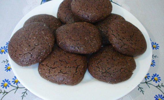 Домашнее шоколадное печенье с какао быстро и просто