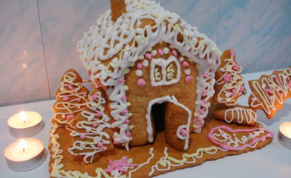 Пряничный домик из пряничного теста своими руками
