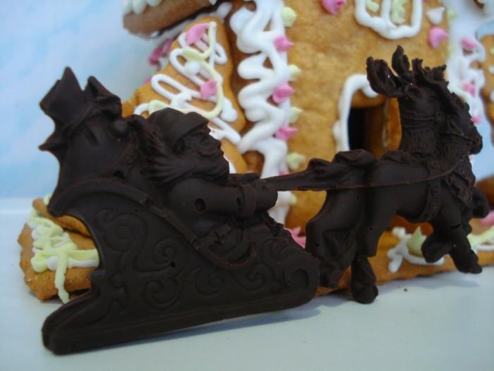 Новогодние украшения из шоколада своими руками