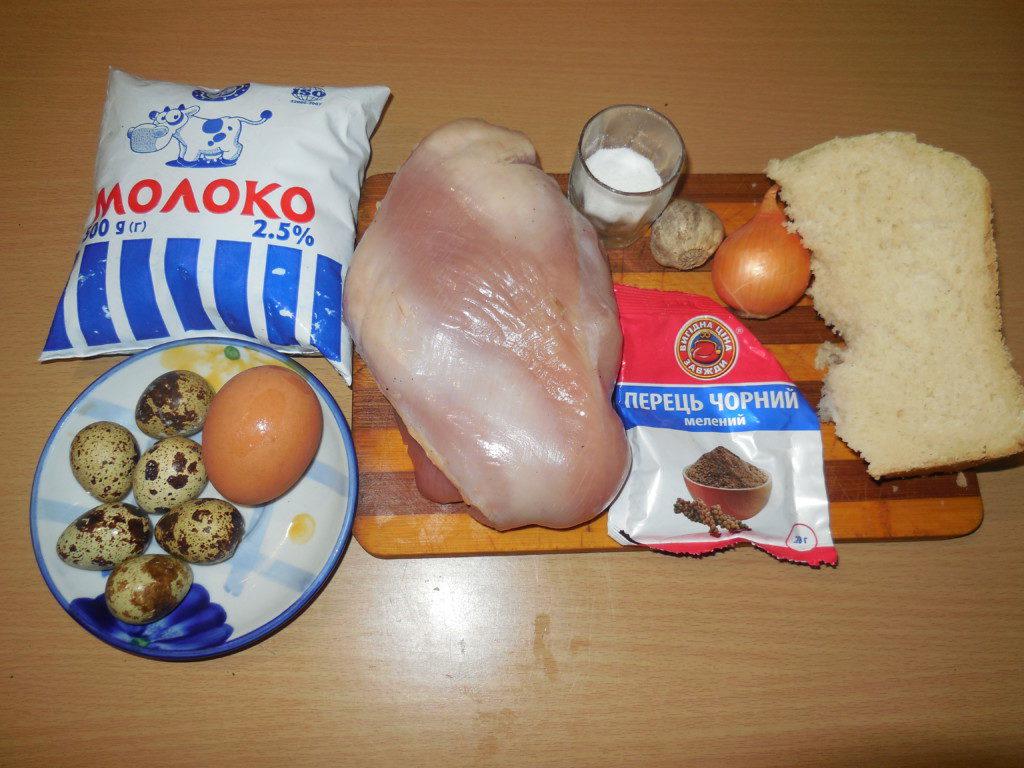 мясной рулет фарша с перепелиными яйцами в мультиварке на пару