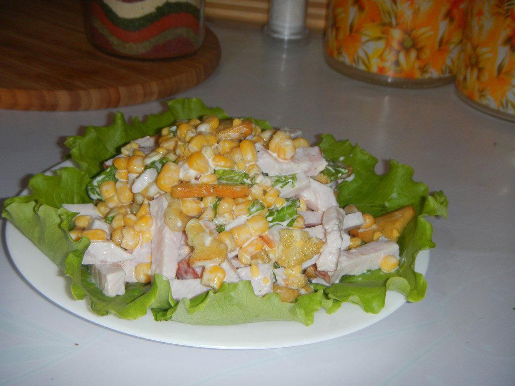 салат с сухариками классический пошаговый рецепт с фото