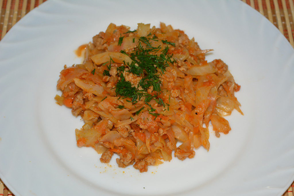 Рецепт тушеной капусты без мяса 73