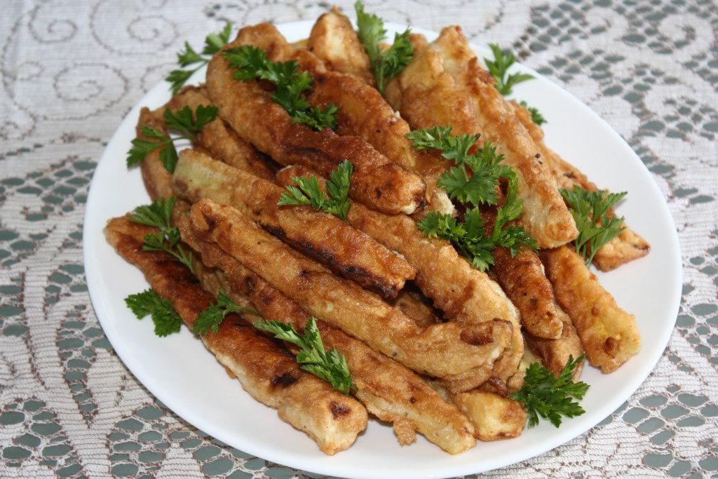 кабачки в кляре в духовке рецепт с фото