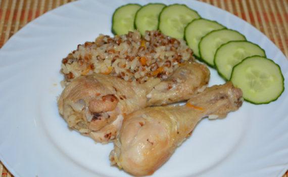 Гречка с рисом и мясом в мультиварке