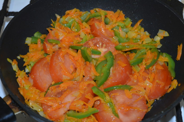 Гречка с рисом и овощами