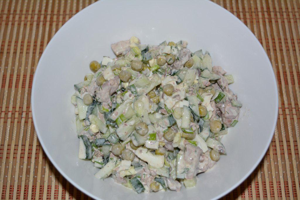 салат из тунца консервированного рецепт с фасолью и