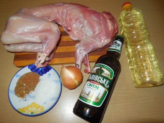кролик с пивом в духовке рецепт с фото
