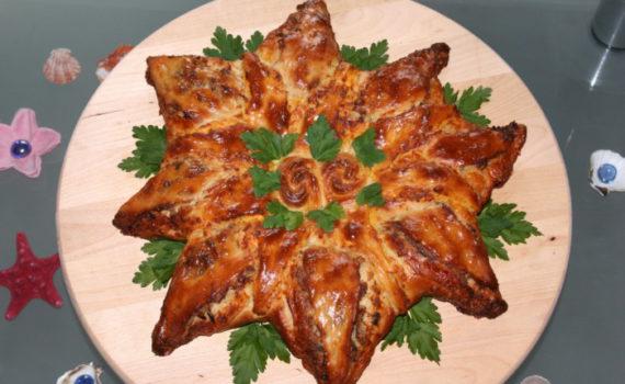 Рыбный пирог из дрожжевого теста