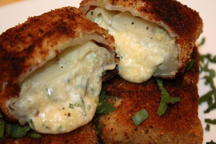 Шницель из капусты с сыром