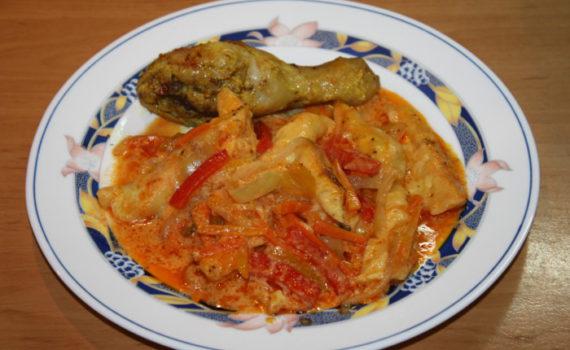 Сырные ньокки с овощным соусом