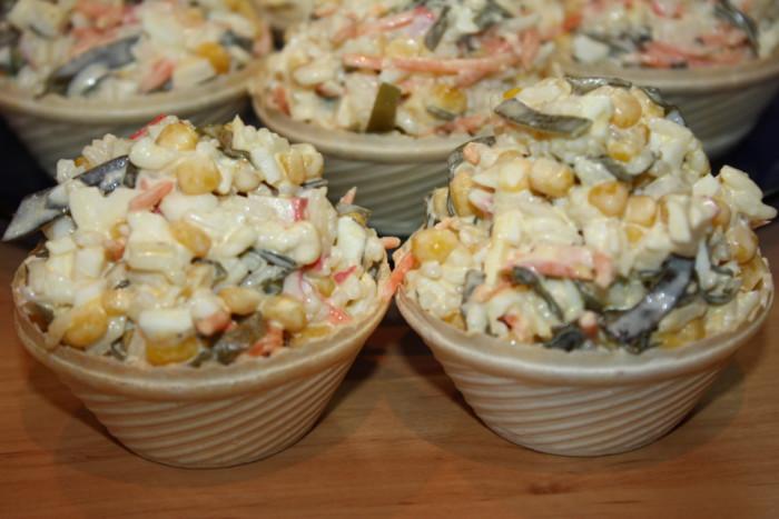 Очень вкусный салат с морской капустой