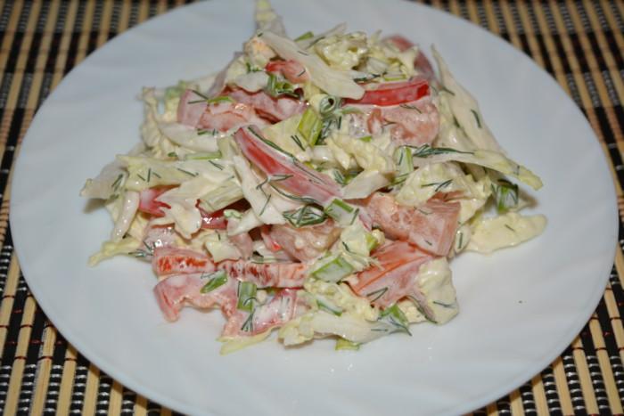 Морская капуста с мясом салат рецепт