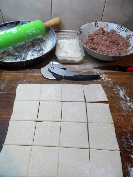 Открытый мясной пирог  Хризантема