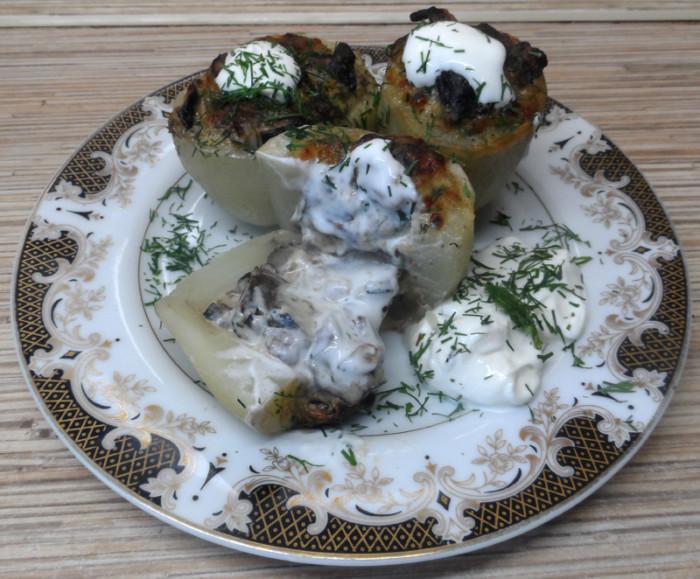 рецепт мясо грибы картошка сыр в духовке