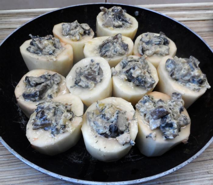 грибы и картошка в фольге в духовке рецепт