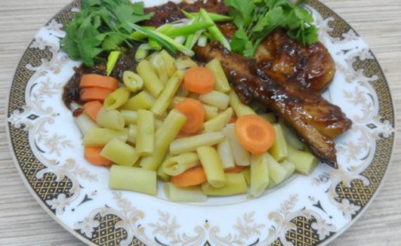Вкусная скумбрия жареная в соусе терияки