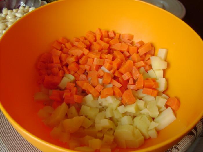 Винегрет с фасолью