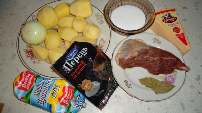 рецепт жаркое с картошкой в духовке