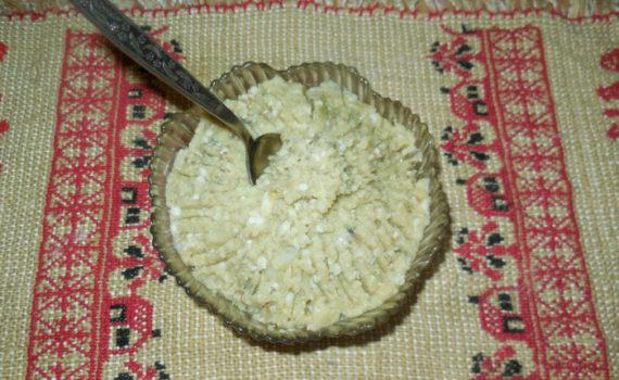 Домашний форшмак из тюльки, с картошкой и яйцом