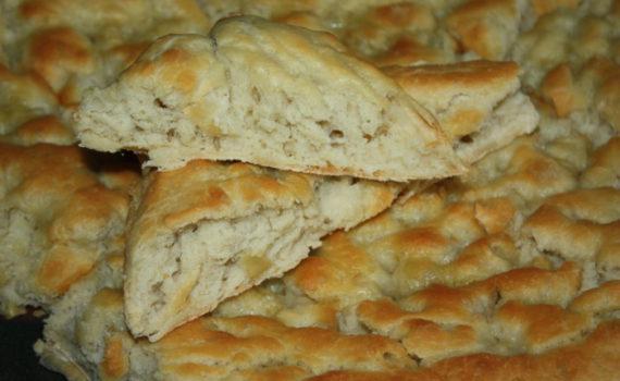 Итальянский хлеб фокачча с имбирем в соленой заливке