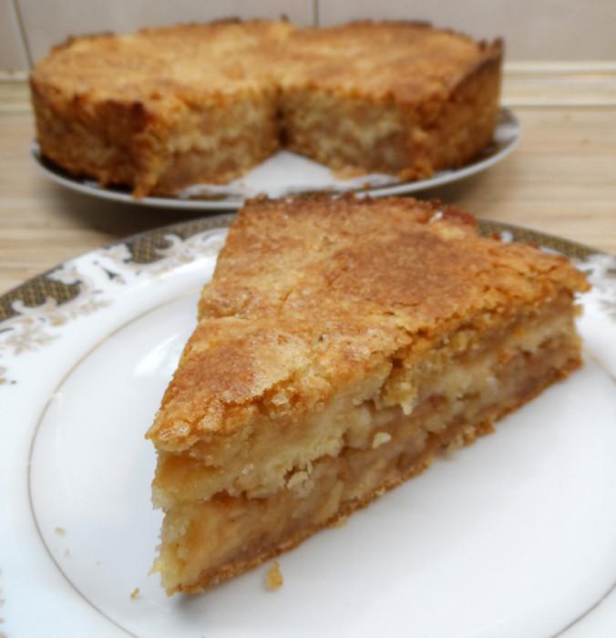 слоеный яблочный пирог в духовке рецепт с фото