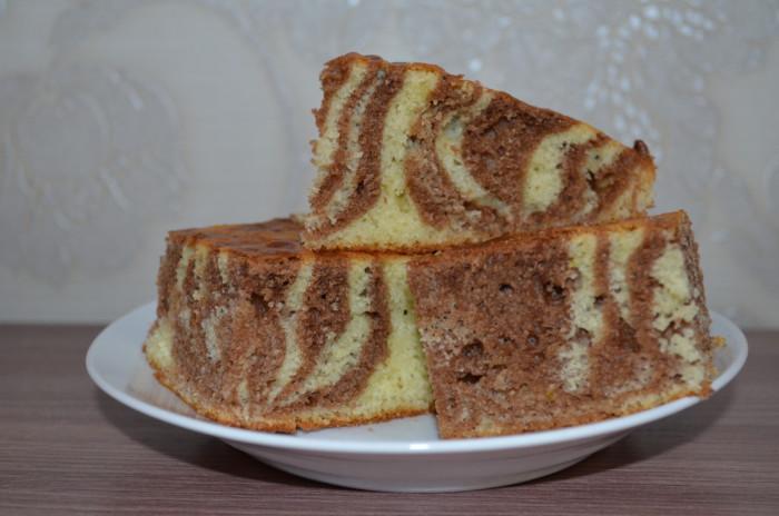 Домашний пирог Зебра