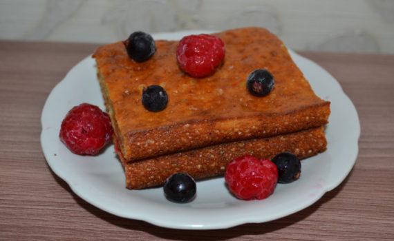 Быстрый пирог на кефире без начинки в духовке