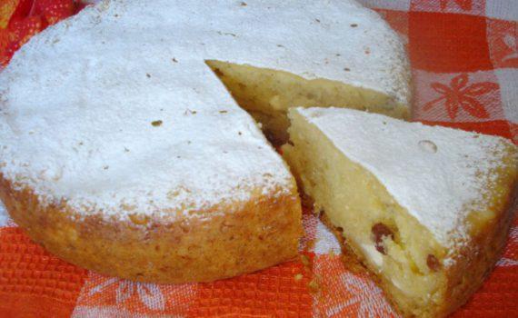 Творожный кекс в мультиварке с изюмом
