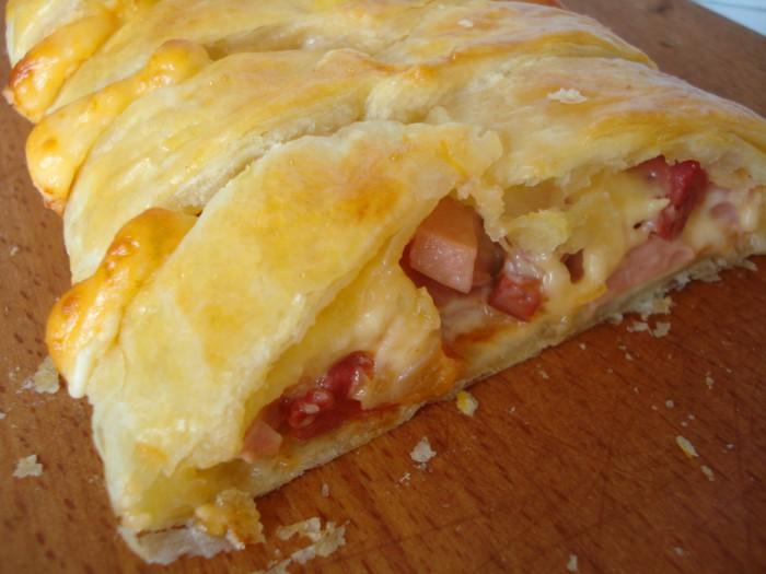 пицца в духовке из слоеного теста пошаговый рецепт