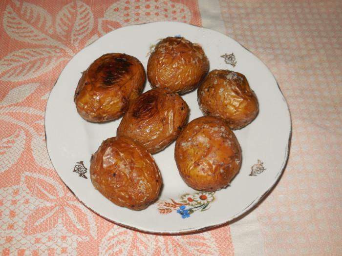 картошка в мундире в духовке с чесноком рецепт с