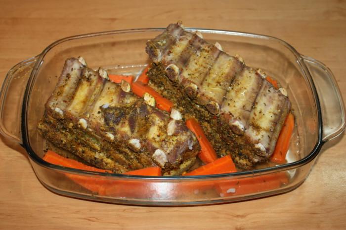 рецепт запечь в духовке свиную грудинку