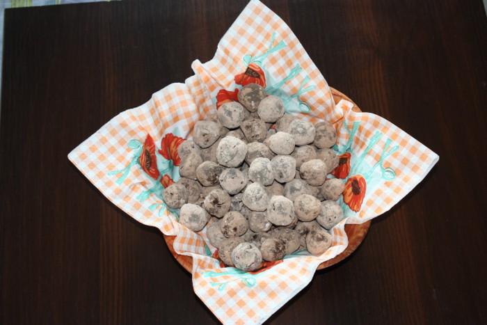 Домашние конфеты трюфели из шоколада с овсяным пралине