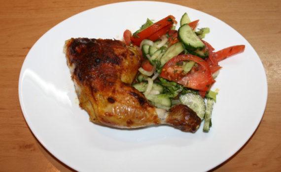 Курица в духовке под маринадом из пасты тахини