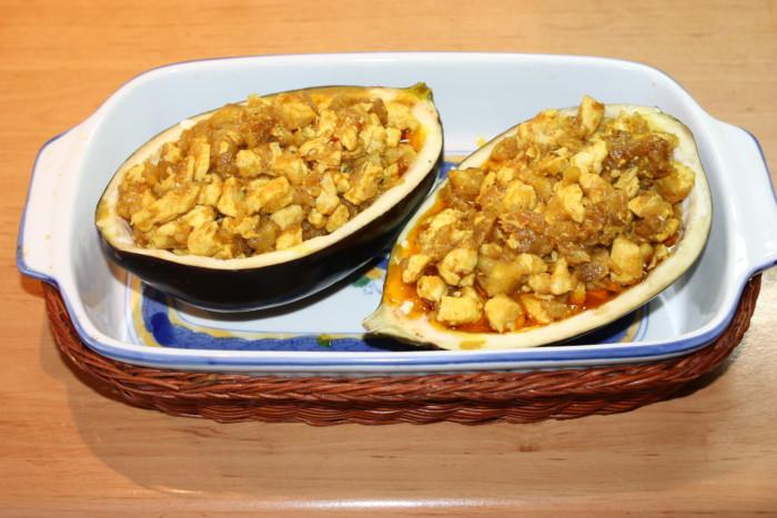 рецепт из баклажанов в духовке с фаршем фото рецепт