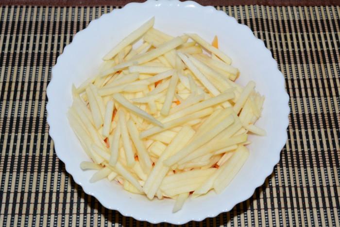 Тыквенный салат с яблоком