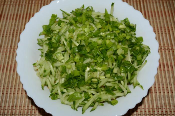 Салат из сырой тыквы с огурцом