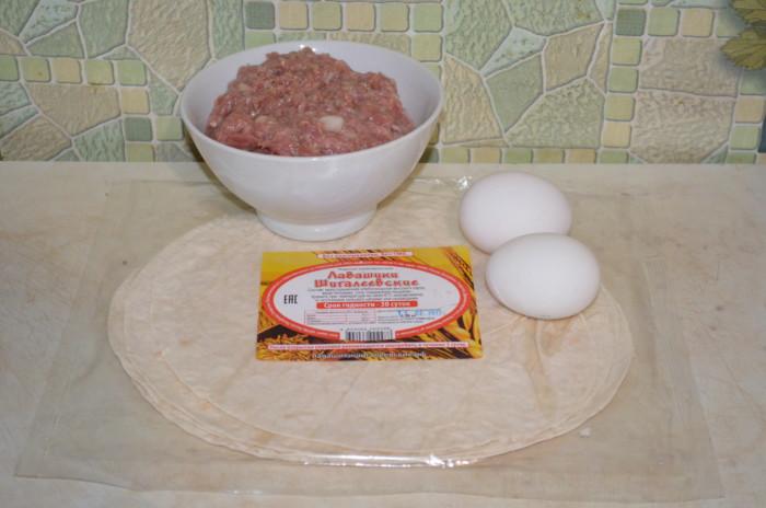 Блюдо из лаваша и яйца