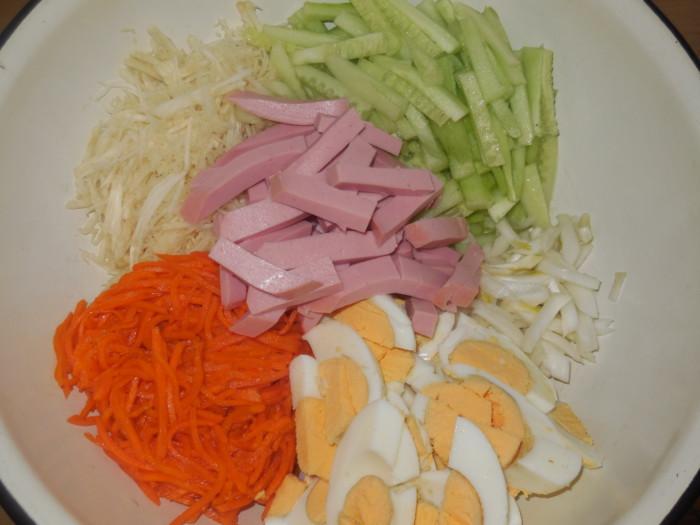 Вкусный салат с корейской морковью