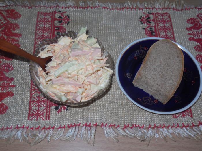 Салат со свежим огурцом пошаговый рецепт 38