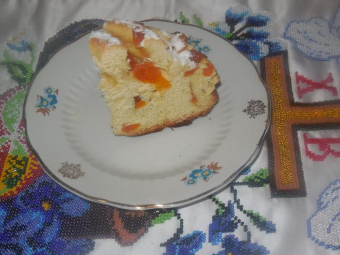 Пасхальный кулич-краффин на апельсиновом соке