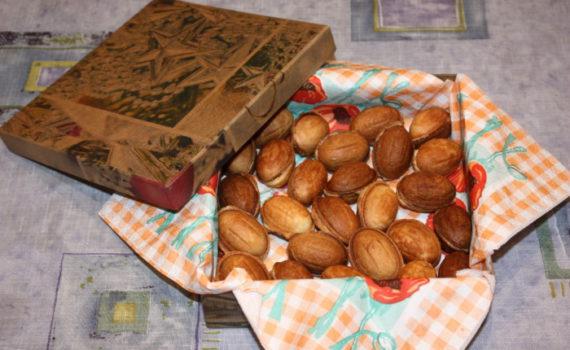 Домашнее печенье Орешки с вареной сгущенкой