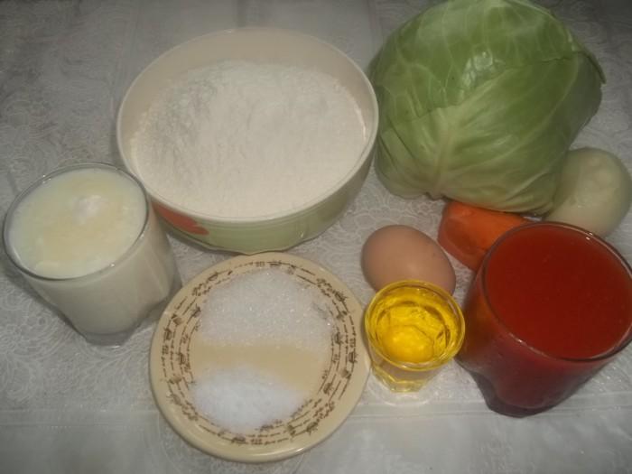 Дрожжевые пирожки с капустой в духовке