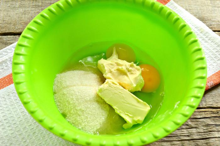 Лимонный пирог на манке и кефире в форме кекса