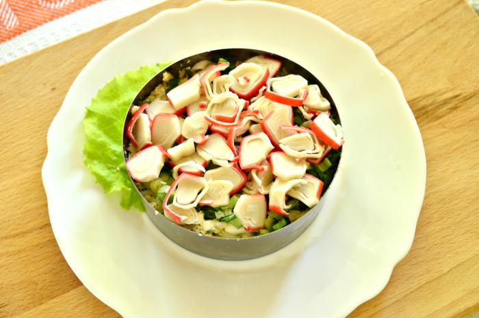 Легкий салат с ветчиной рецепт