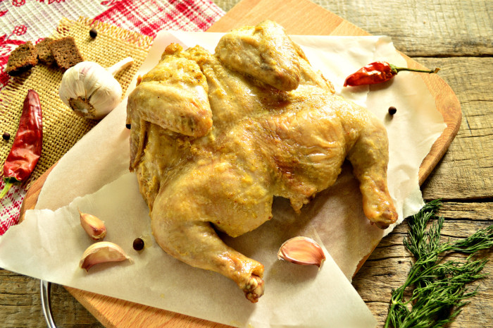 цыпленок в духовке целиком в фольге рецепт