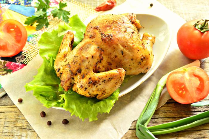 запечь цыпленка в духовке целиком рецепт