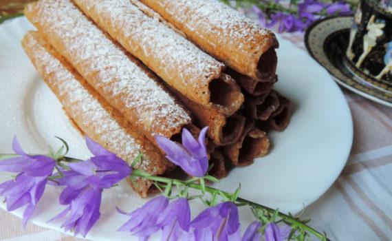 Хрустящие шоколадные вафли в вафельнице