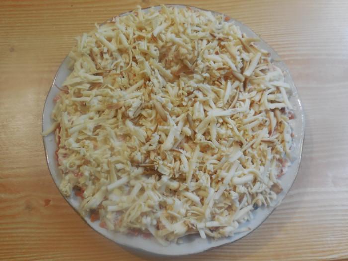 Вегетарианская селедка под шубой с нори и соевым сыром