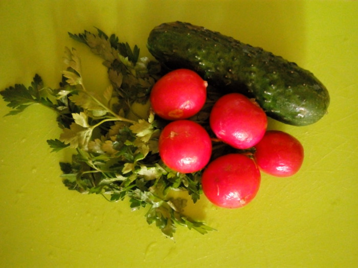 Салат с рукколой и овощами