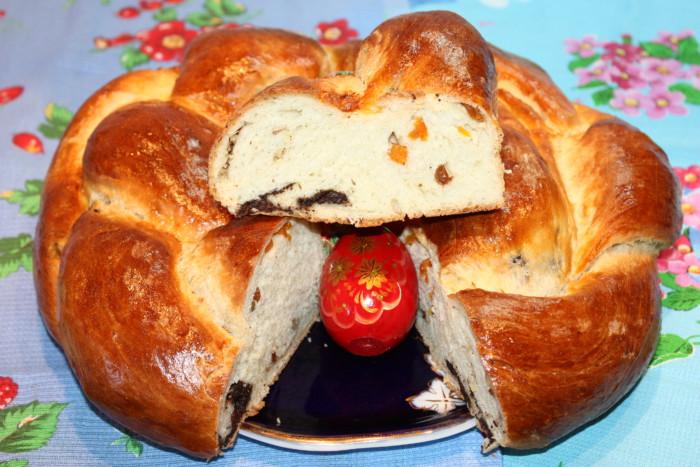 Оригинальный итальянский пасхальный кулич косичкой с начинкой